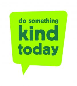 speech bubble inviting people to do something kind today